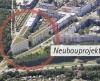 Prägend für das Eingangsbild des Rieselfelds – die Illustration der drei Gebäude auf dem letzten Baugrundstück (unverbindliche Illustration).