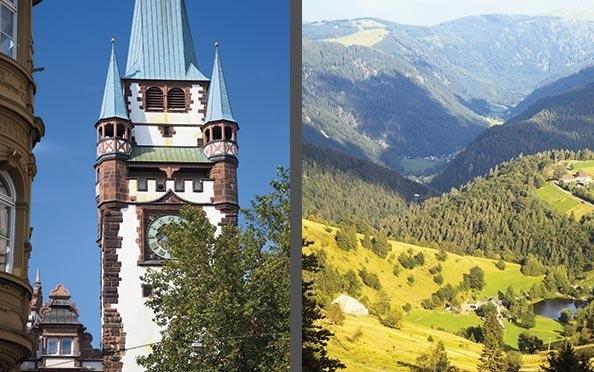 Nicht weit ist es von Freiburg zum Schauinsland.